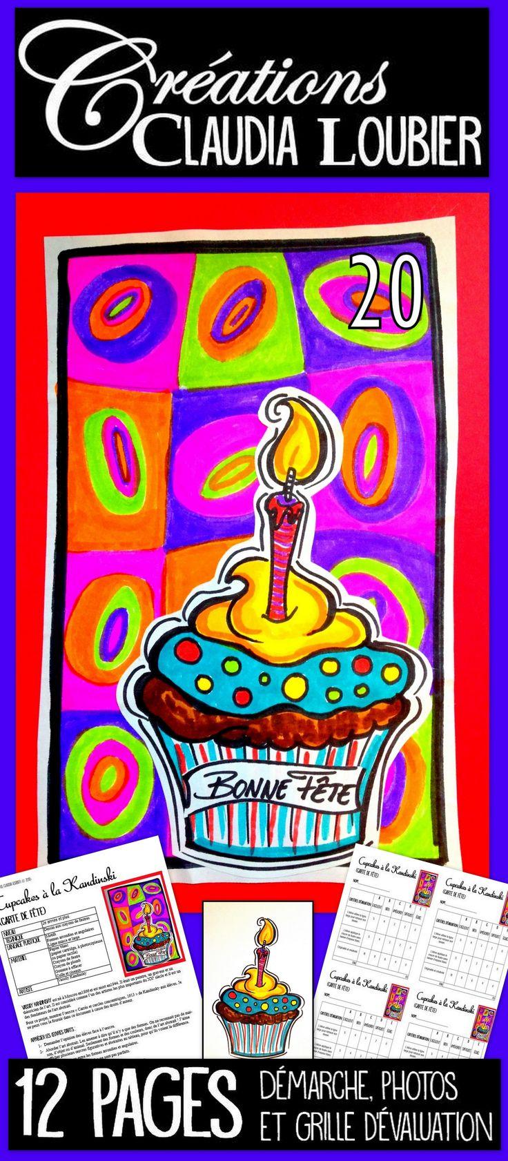 Voici un projet pour débuter l'année scolaire. Une création de carte de fête, que les élèves pourront personnaliser et recevoir durant l'année. Pourquoi ne pas débuter l'année artistiquement, en travaillant à la manière d'un artiste célèbre: Vassily Kandinsly. Du matériel simple : des feutres de couleurs, colle et ciseaux. Ce document contient la démarche complète avec photo et grille d'évaluation. Bonne rentrée !