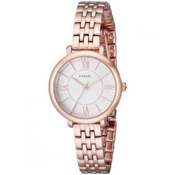 Fossil damen armbanduhr jacqueline analog quarz edelstahl es3632