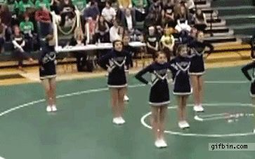 ahh .. poor little cheerleader! lol  Thats why you never do things half assed!