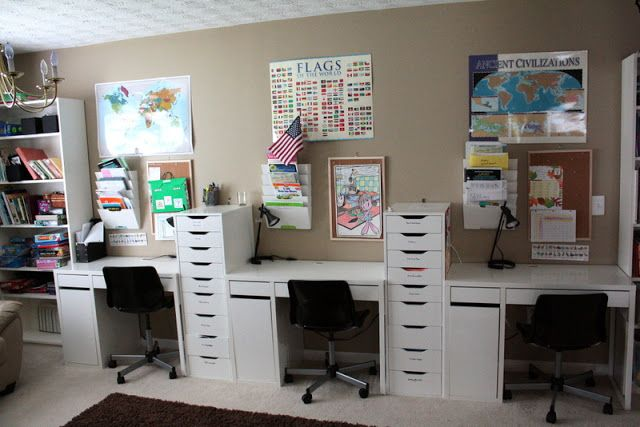 Check out this great home school solution by @Laine Chambers with IKEA ALEX drawers.