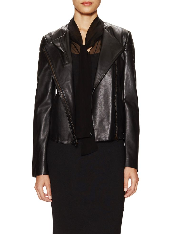 Leather Biker Jacket by Gucci Clothing & Accessories at Gilt