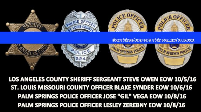 4 officers killed in a week
