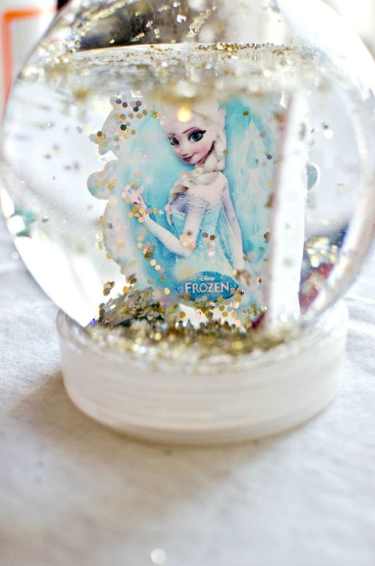 Diy Snow Globe Tutorial for your little Frozen Fan!