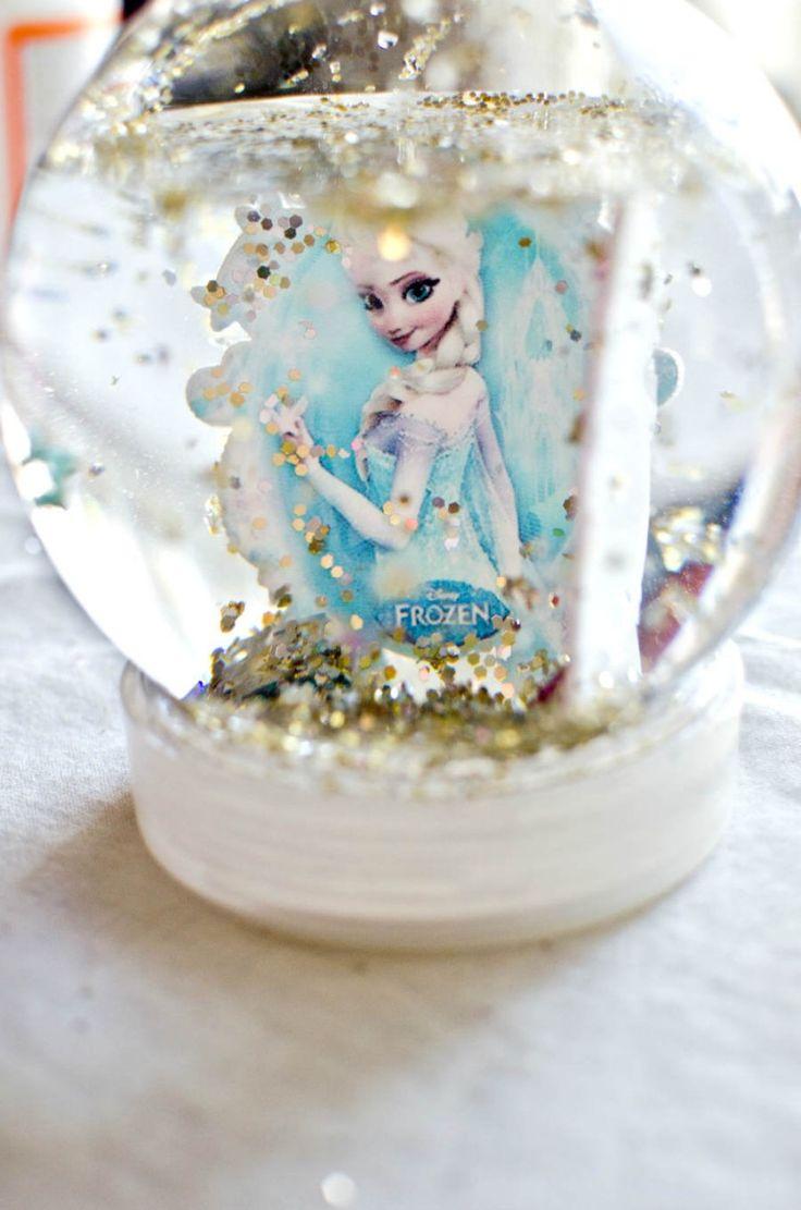 Diy Snow Globe Tutorial for your little Frozen Fan!