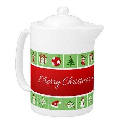 New Year pattern. Color Pictures. 2018. Teapot - Xmas ChristmasEve ...