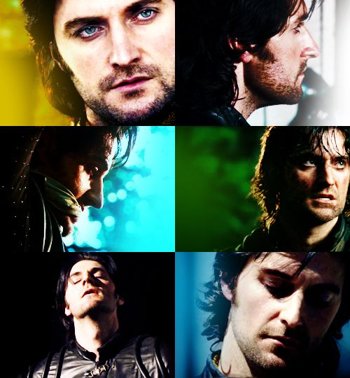 Guy of Gisborne - I love that head roll he does when he's annoyed