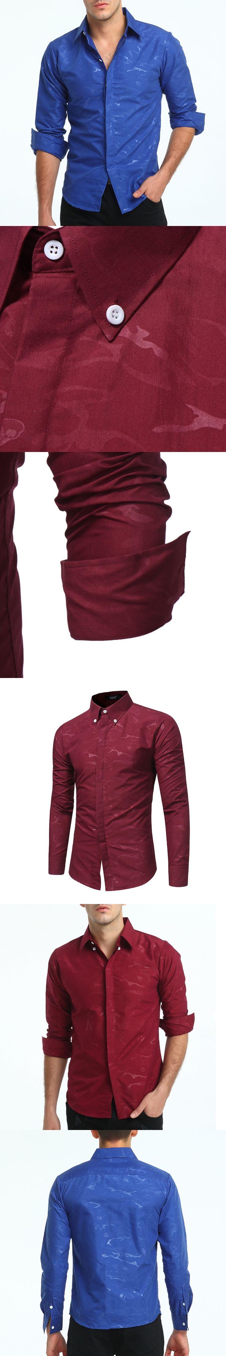 Brand Camouflage Shirt Men Skull Print Mens Dress Shirts 2017 Fashion Long Sleeve Slim Fit Men Shirt Casual Social Cotton Camisa