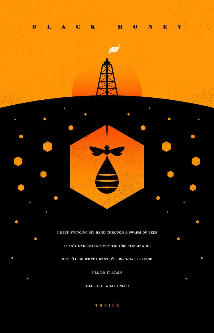 Illustration for Thrice's track 'Black Honey' which is a metaphor for the US's foreign policy
