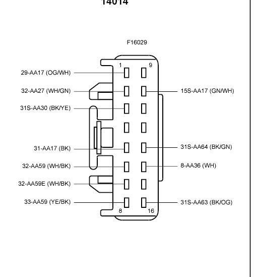 Ford focus central locking module wiring diagram #1 | SCOR