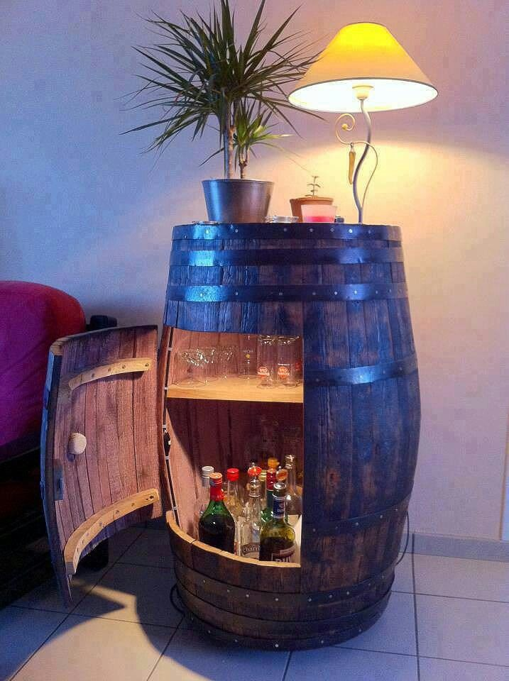 http://m.instructables.com/id/Convert-a-Wine-Barrel-into-a-Cabinet/?ALLSTEPS