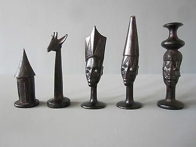 Vintage Fine African Chess Set