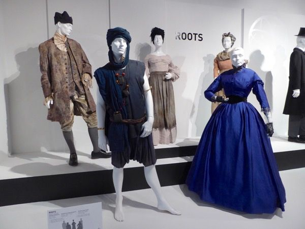 Hollywood Movie Costumes and Props: Roots TV remake costumes on display... Original film costumes and props on display