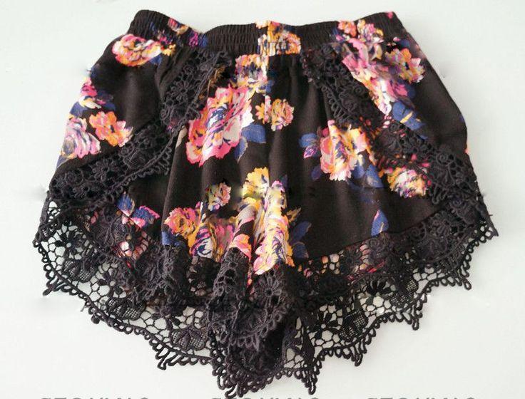 Sexy Crochet guarnição do laço Pom Pom Vintage Shorts de cintura alta mulheres cintura elástica calções de praia calções de verão de algodão em Shorts de Roupas e Acessórios Femininos no AliExpress.com   Alibaba Group