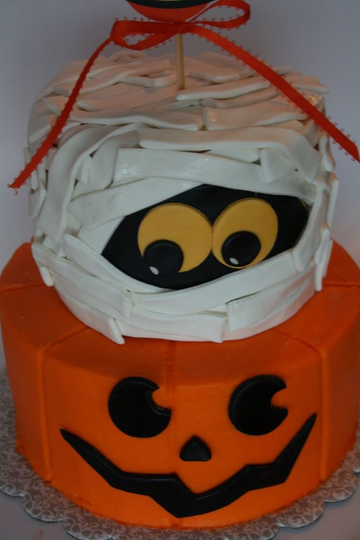 charming halloween cake decorating idea with white zombie and orange pumpkin a part of charming halloween cake decorating idea with white zombie and orange