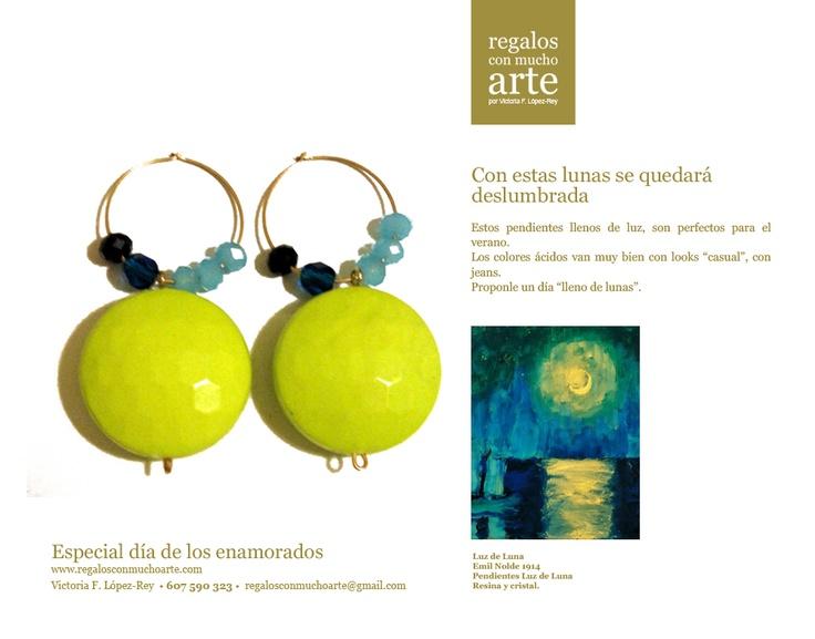 Pendientes Luz de Luna  $49 - 38€  www.regalosconmuchoarte.com VENDIDOS