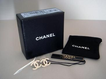 Chanel CC Logo Earrings Large Gold Crystal New In Box Authentic