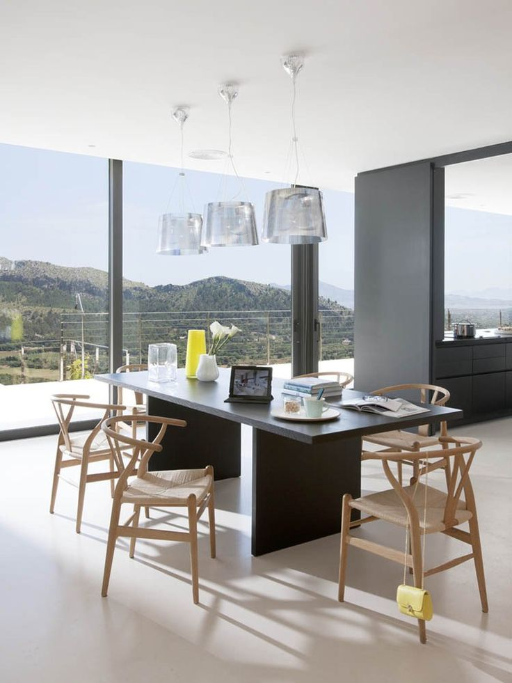 Kartell Ge' Suspension LampDining Rooms, Architects, Casa 115 Miquel Àngel Lacomba, Beach House, Miguel Lacomba, Black Kitchens, Angels, Design, Mountain House