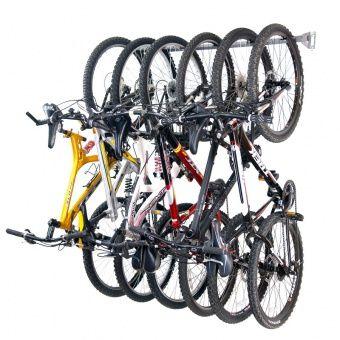 Bike Storage Rack Holds 6 Organizing Solution Store
