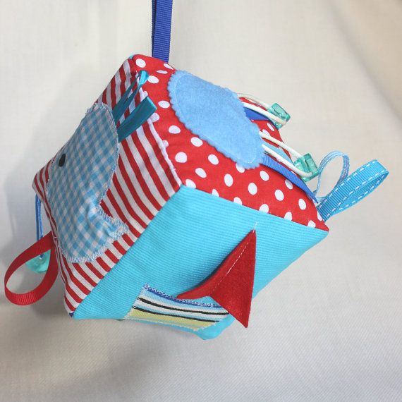 Baby boy Block / Nautical sensory toy / Soft fabric by PopelineCo
