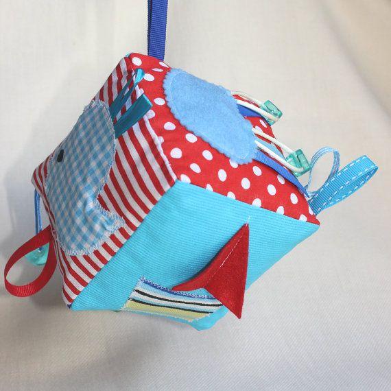 Baby boy Block / Nautical sensory toy / Soft fabric by PopelineCo