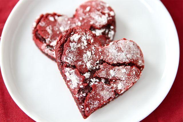 Valentine Cookies, Red Velvet Cake, Heart Cookies, Red Velvet Crinkle ...