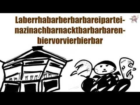 Heiter bis Wolkig - Rhabarberbarbarei (official ANTI AfD Rhabarber Barbara Cartoon) - YouTube