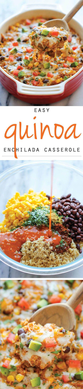 Quinoa Enchilada Casserole // #healthy #mexican