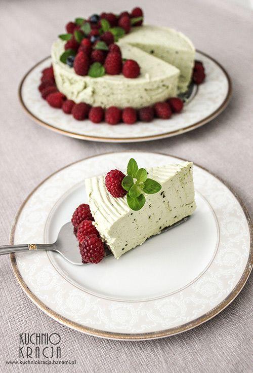 #Matcha cheesecake.