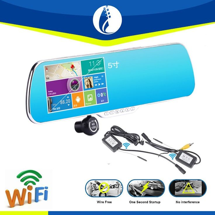 5 2 1080P Full HD Blue Tint Front Back Up Camera Recorder Gr8 Rearview Mirror
