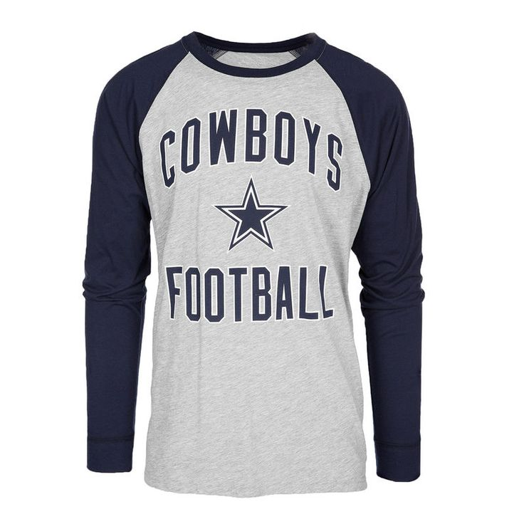 Dallas Cowboys Byron Long Sleeve Raglan T-Shirt - Heathered Gray/Navy
