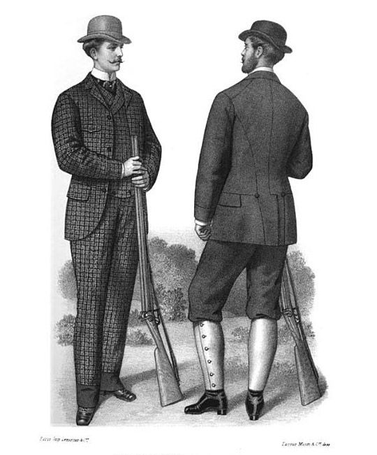 "Style of men in Victorian Era - ""Gazette of Fashion and Cutting-Room Companion"", 1872  Passepartout needs that plaid/tweed suit"