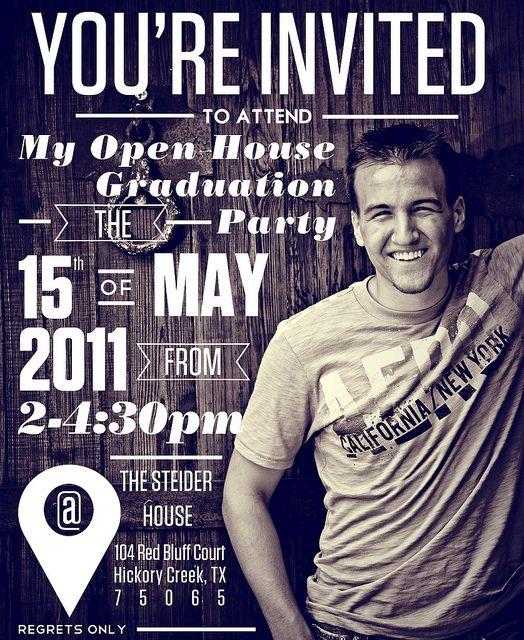 Invites for Kurt Graduation Party Invites, via Flickr.
