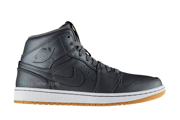 low priced efbed a241a ... New Arrival Nike Air Jordan 1 Mid Nouveau Cool Grey (649688-017) https   MensWomens Nike Air Jordan Flight Tradition bred Basketball Shoes Shades Of  Red ...