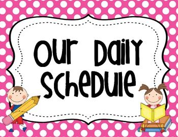 I've included 12 pages of Daily Schedule cards in a bright and colorful polka dot theme!  I'll be using these cards in my Kindergarten classroom on...