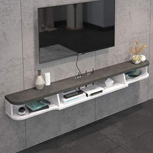 Nouvelle Tablette Flottante De Niveau 2 Moderne Tv Fixee Au Mur Etagere Meuble Tv Flottant Tv Media Consol En 2020 Meuble Tv Flottant Console Murale Etagere Rangement