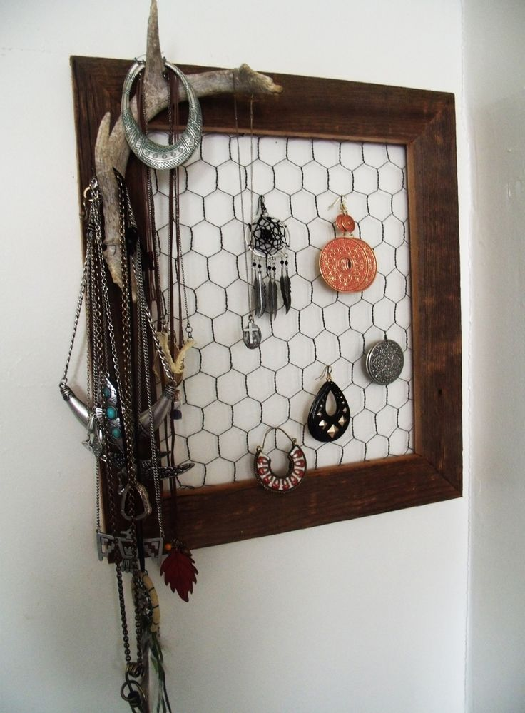My friend made me a rustic jewelry holder with a cool old antler shed for my birthday this past week!