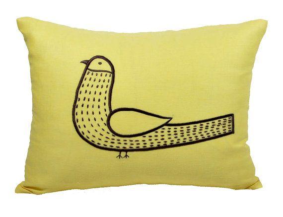 Bird  Lumbar Pillow Cover Decorative Pillow Cover by KainKain