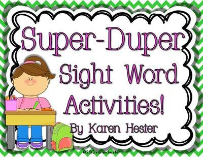 """Super-Duper Sight Word Activities! from Little Smarticle Particles on TeachersNotebook.com -  (92 pages)  - Dolch Materials included: Two complete cuttable Dolch sight word card lists Cuttable Dolch noun card list Complete cuttable Dolch phrase card list  Activities included: Alphabetical Order Activities Two """"Silly Sentences"""" Activities Silly Story Activity wi"""