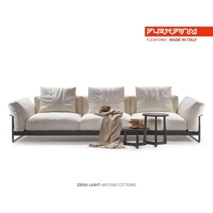 #FLEXFORM ZENO LIGHT sofa #design Antonio Citterio