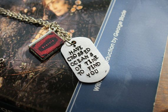 "Bram Stroker - Dracula - metal stamped literary quote necklace - ""I have crossed oceans of time to find you."" #abookwormcreates https://www.etsy.com/listing/492463350/bram-stroker-dracula-i-have-crossed"