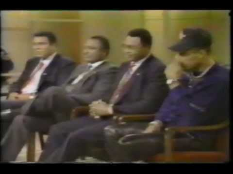 """In 1990, Muhammad Ali, Ken Norton and Larry Holmes went on the Phil Donahue Show to promote their Documentary """"Champions Forever"""". This is very rare footage."""