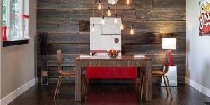 Unsur Kayu yang Elegan Percantik Ruang Makan