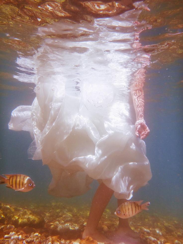 Water and the Wedding Dress - Photographer Lisa Michele Burns