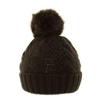 Cable Knit Black Bobble Hat, £8.00, Little Wings Factory (http://www.littlewingsfactory.com/cable-knit-black-bobble-hat/)
