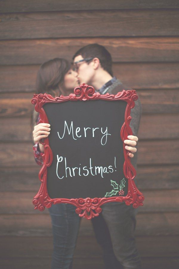 cute chalkboard and christmas card idea!
