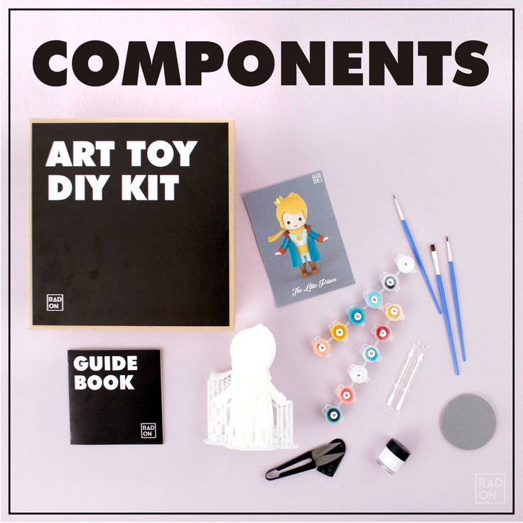 Let me show you RADON Art Toy DIY kit ;D You are gonna crush on this full package of coloring DIY kit which has many things. Theses are brushes, colors, scissors, guide book, and of course, 3D pintered ART TOY. You Do Not need to prepare other things ;) #Arttoy #3Dprinting #DIY #Coloring #littleprince #RADON #Hobby #Alice #Redhood #cute #color #strawberry #pink #pinky