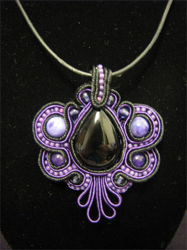 dark Butterfly Soutache Necklace