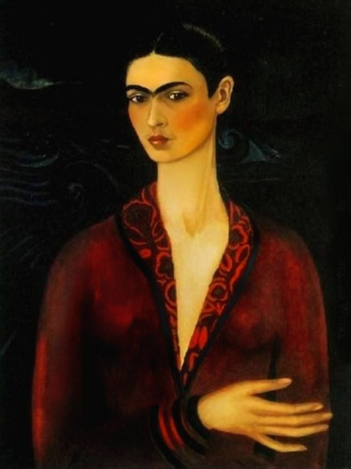 Self Portrait in Velvet Dress - 1926