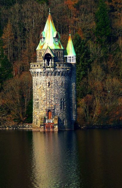 """The Straining Tower"" - Lake Vyrnwy, Powys, Wales"