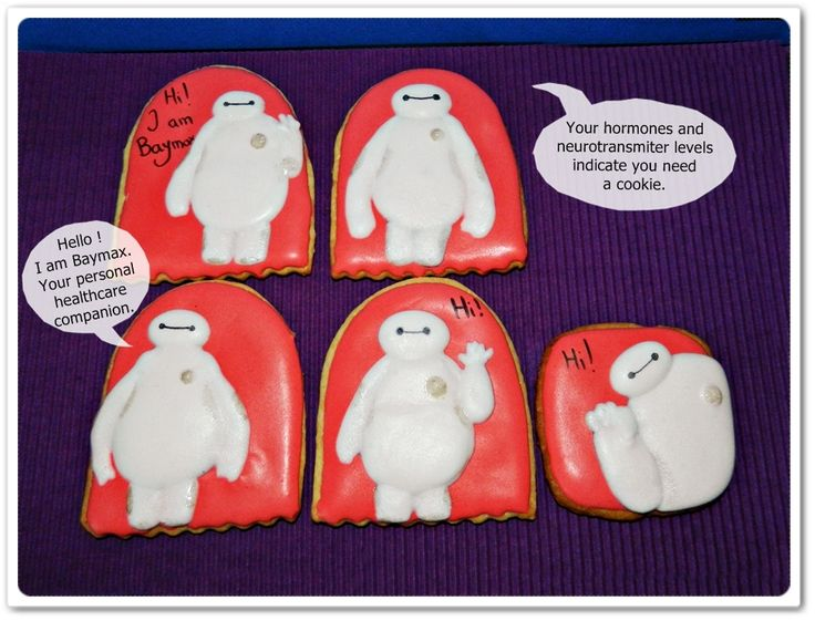 Cookies with Baymax from Big Hero 6 :)